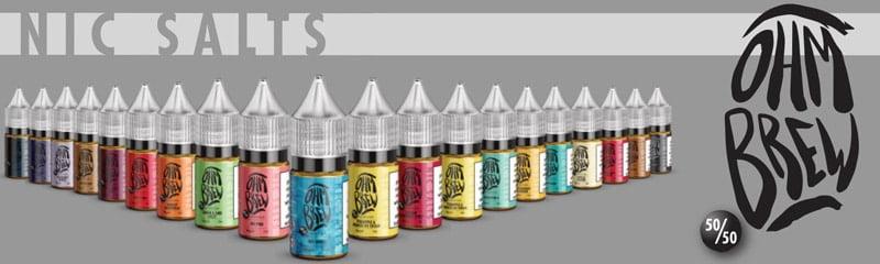 Ohm Brew Nic Salt E-Liquids | Puffin Clouds UK