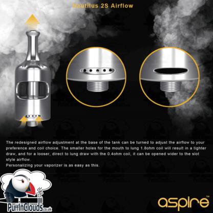 Aspire Nautilus 2S Tank | Puffin Clouds UK