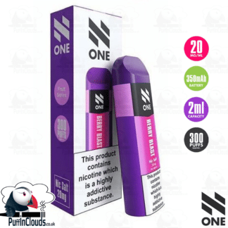 N One Disposable Pod - Berry Blast Nic Salt 20mg | Puffin Clouds UK