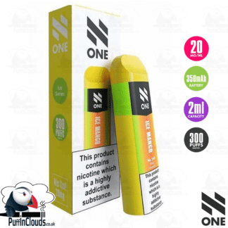N One Disposable Pod - Ice Mango Nic Salt 20mg | Puffin Clouds UK