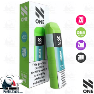 N One Disposable Pod - Menthol Nic Salt 20mg | Puffin Clouds UK