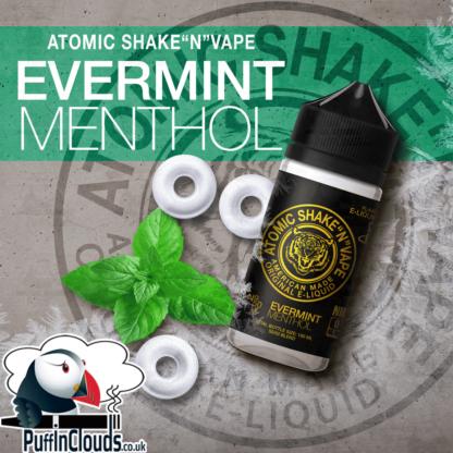 Atomic Evermint Menthol Shake n Vape E-Liquid (50ml 0mg) | Puffin Clouds UK