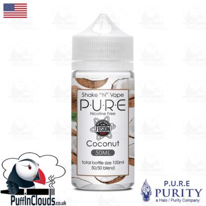 P.U.R.E Coconut Shake n Vape E-Liquid (50ml 0mg) | Puffin Clouds UK