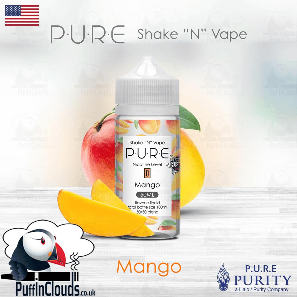 P U R E Mango Shake N Vape E Liquid 50ml 0mg Puffin Clouds Ltd