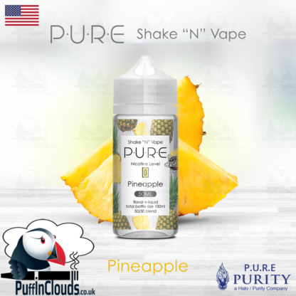 P.U.R.E Pineapple Shake n Vape E-Liquid (50ml 0mg) | Puffin Clouds UK