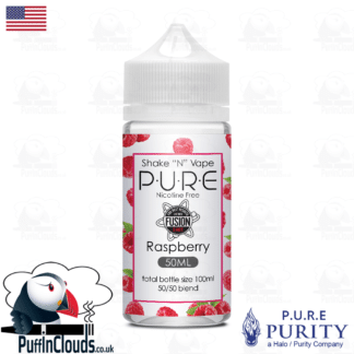P.U.R.E Raspberry Shake n Vape E-Liquid (50ml 0mg) | Puffin Clouds UK
