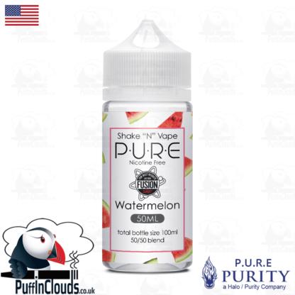 P.U.R.E Watermelon Shake n Vape E-Liquid (50ml 0mg) | Puffin Clouds UK