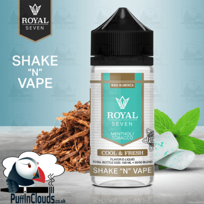 Royal Seven Cool & Fresh Menthol Tobacco Shake n Vape E-Liquid (50ml 0mg)   Puffin Clouds UK
