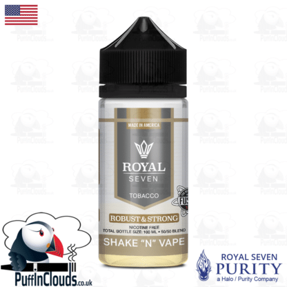 Royal Seven Robust & Strong Tobacco Shake n Vape E-Liquid (50ml 0mg) | Puffin Clouds UK