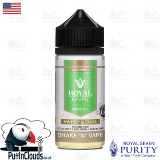 Royal Seven Sweet & Cool Menthol Shake n Vape E-Liquid (50ml 0mg) | Puffin Clouds UK