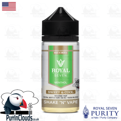 Royal Seven Sweet & Cool Menthol Shake n Vape E-Liquid (50ml 0mg)   Puffin Clouds UK