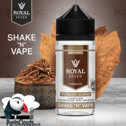 Royal Seven Turkish Blend Tobacco Shake n Vape E-Liquid (50ml 0mg) | Puffin Clouds UK