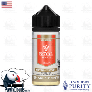 Royal Seven Ultra Smooth Tobacco Shake n Vape E-Liquid (50ml 0mg) | Puffin Clouds UK