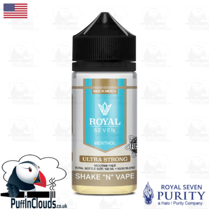 Royal Seven Ultra Strong Menthol Shake n Vape E-Liquid (50ml 0mg)   Puffin Clouds UK