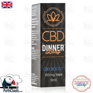 Dinner Lady CBD Vape Boost 250mg | Puffin Clouds UK