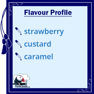 Dinner Lady Strawberry Custard E-Liquid (50ml 0mg) | Puffin Clouds UK