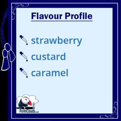 Dinner Lady Strawberry Custard E-Liquid (50ml 0mg) | Puffin Clouds UK