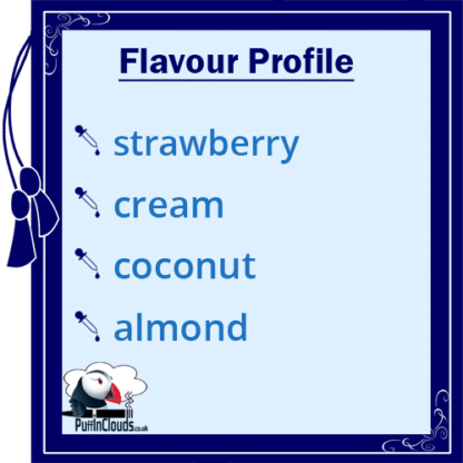Dinner Lady Strawberry Macaroon E-Liquid (50ml 0mg) | Puffin Clouds UK
