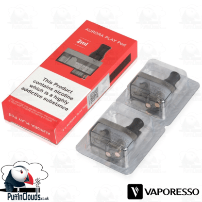 Vaporesso Aurora Play Replacement Pods (2 Pack)   Puffin Clouds UK