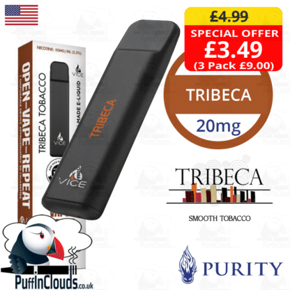 Purity Tribeca Vice Disposable Pod Device | Puffin Clouds UK