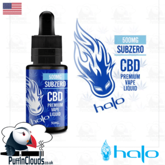 Halo SubZero 500mg CBD E-Liquid 30ml | Puffin Clouds UK