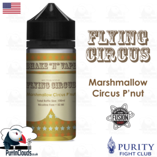 Flying Circus Marshmallow Circus Peanut Shake n Vape E-Liquid (50ml 0mg) | Puffin Clouds UK