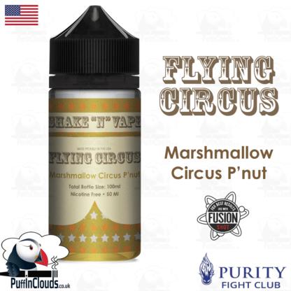 Flying Circus Marshmallow Circus Peanut Shake n Vape E-Liquid (50ml 0mg) | Puffin Clouds UK