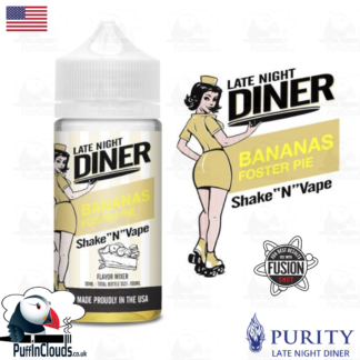 Late Night Diner Bananas Foster Pie Shake n Vape E-Liquid (50ml 0mg) | Puffin Clouds UK