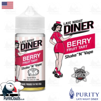 Late Night Diner Berry Fruit Tart Shake n Vape E-Liquid (50ml 0mg) | Puffin Clouds UK