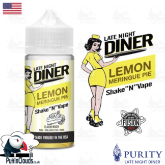 Late Night Diner Lemon Meringue Shake n Vape E-Liquid (50ml 0mg) | Puffin Clouds UK