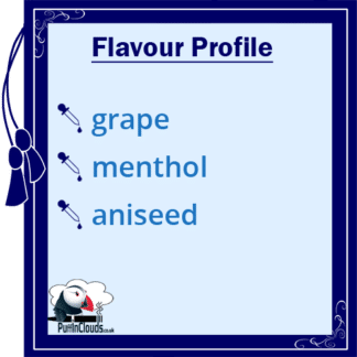 Ohm Brew Grape Menthol Aniseed Nic Salt E-Liquid 50/50 | Puffin Clouds UK