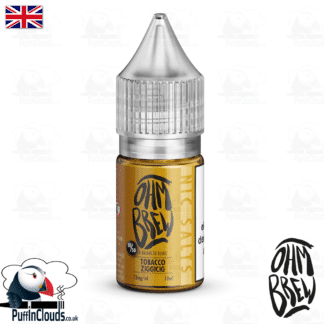 Ohm Brew Tobacco Ziggicig Nic Salt E-Liquid 50/50 | Puffin Clouds UK