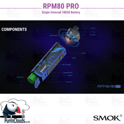 SMOK RPM80 Pro Pod Kit (Single 18650 Battery) | Puffin Clouds UK