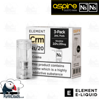 Element Crema Gusto Mini Pods NS10 & NS20 | Puffin Clouds UK