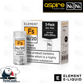 Element Fresh Squeeze Gusto Mini Pods NS10 & NS20 | Puffin Clouds UK
